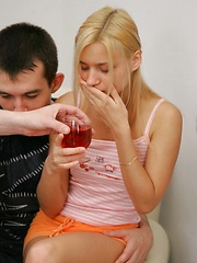 Three guys get teeny drunk and use her every hole