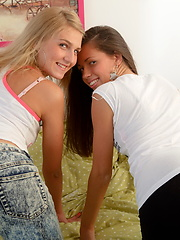 Dirty games with two beautiful teen cuties