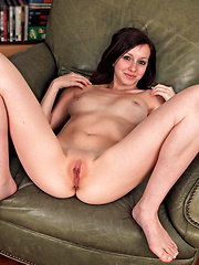 Hot girl Victoria grabbing her tight pussy and asshole