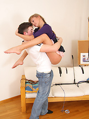 This naughty teen and her boyfriend wanted to try something kinky in the bedroom