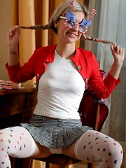 Young teenage masturbator playing with a big dildo