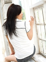 Takami Hou lovely Asian teen is sexy and cute in lingerie