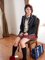 Tsubasa Akimoto Asian shows sexy legs and hot butt in panty