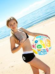 A sexy beach sport