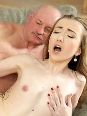 Old man still able to satisfy young sluts like son's new GF