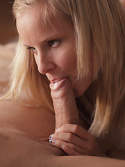 Sexy young model sucking cock before hard fuck