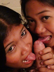 Cock-hungry pair of naughty Filipinas enjoy dick