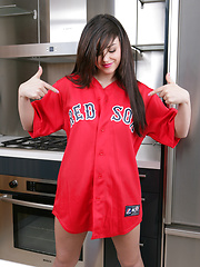 Amazing teen star Autumn Riley is a sexiest fan of Red Sox