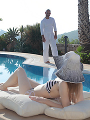 Watch creamy white Beatrice take a huge cock and love it