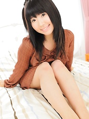 Cute japanese girl Mio Nakajyou in red thong