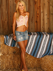 A short denim mini skirt and a very hot girl just waiting to get getting naked