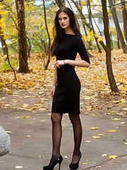 Sultry, erotic and captivating muse with enviable curves, and slender long legs.