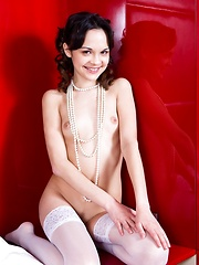 Ralina is a young girl who has a nubile form all perfect and glowing as she sticks her bottom up and puts her head down.