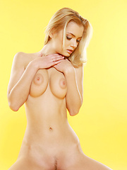 This model had big eyes and big puffy nipples and a soft wonder body, she had blonde hair and lots of passion.