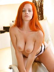 Cute red head girl Ariel Piper Fawn
