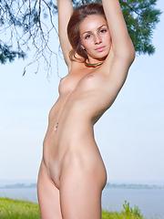 Cute skinny girl Susana shows her beauty