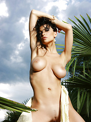 Jenya is a superstar with large round breasts and nice nipples , she has flashy moves and glowing eyes.