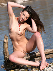 Stylish young brunette who loves nature and eco friendly materials or its time to go naked.