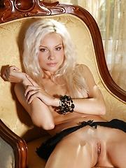 Hot blonde babe Adelia