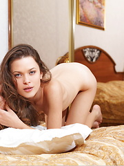 Stunning beauty wakes up and is in the mood for something romantic and sexual.