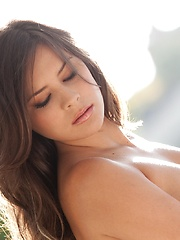 Nina James - shows off her perfectly crafted body