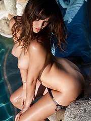 Holly Michaels - gets frisky by the pool