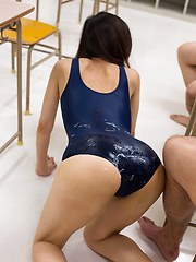 Japanese girl Yamada Reika in spandex suit