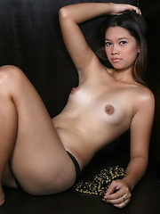 Jewel strips to show her yummy brown love orifices