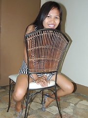 Friendly Filipina welcomes tourist with sexy striptease