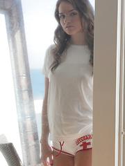 Hot babe in panties