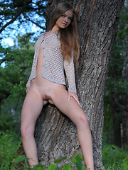 Hot teen in the forest
