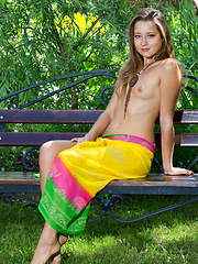 Beautiful and fresh, innocent gaze, and petite, nubile body, Taissia is a charming delicate flower in her debut series.