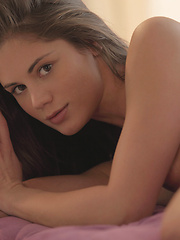 Watch beautiful Czech superstar and X-Art exclusive model Caprice strip, dance and make herself cum