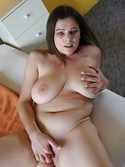 Chubby Cutie girl in bedroom