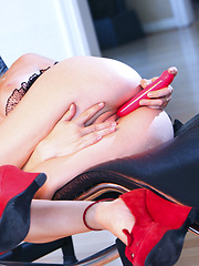 Lexi Belle horny and all alone with her sex toys