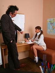 Watch sexy Valya pleasing her old teacher.