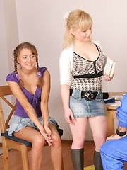 Young coed has to fuck with her ugly teacher instead of physical training lessons.