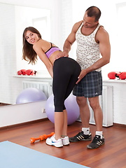 Gorgeous and skinny teen banged by her dirty coach