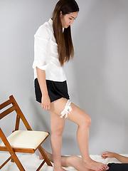 Yukishiro Madoka in tight pantyhose