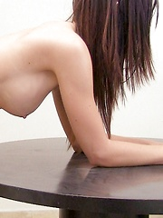 Exotic and shy brunette fucks and sucks during casting call