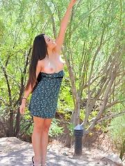 Marisol gets some sun