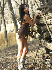 Gorgeous Destiny Moody gets a little tied up exploring an old Indian fort