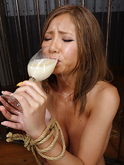 Sumire drinks sperm