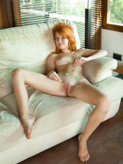 Mia Sollis shows off her tight pussy