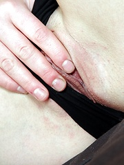 Good looking beauty fondles cunt with her moist fingers