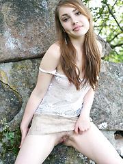 Hairy teen crotch
