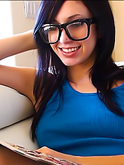 Catie Minx loves comic books almost, as much as she likes fucking herself to a screaming orgasm.