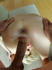 Petite Chloe sees how much of Bruce she can put in her