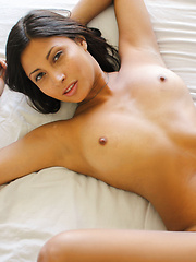 Sexy exotic girl sees if she has what it takes to join the biz