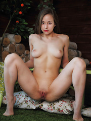 Miren's beautiful, lithe body with cuppable round breasts, pink and puffy nipples, shapely thighs, and cute, adorable face to match.